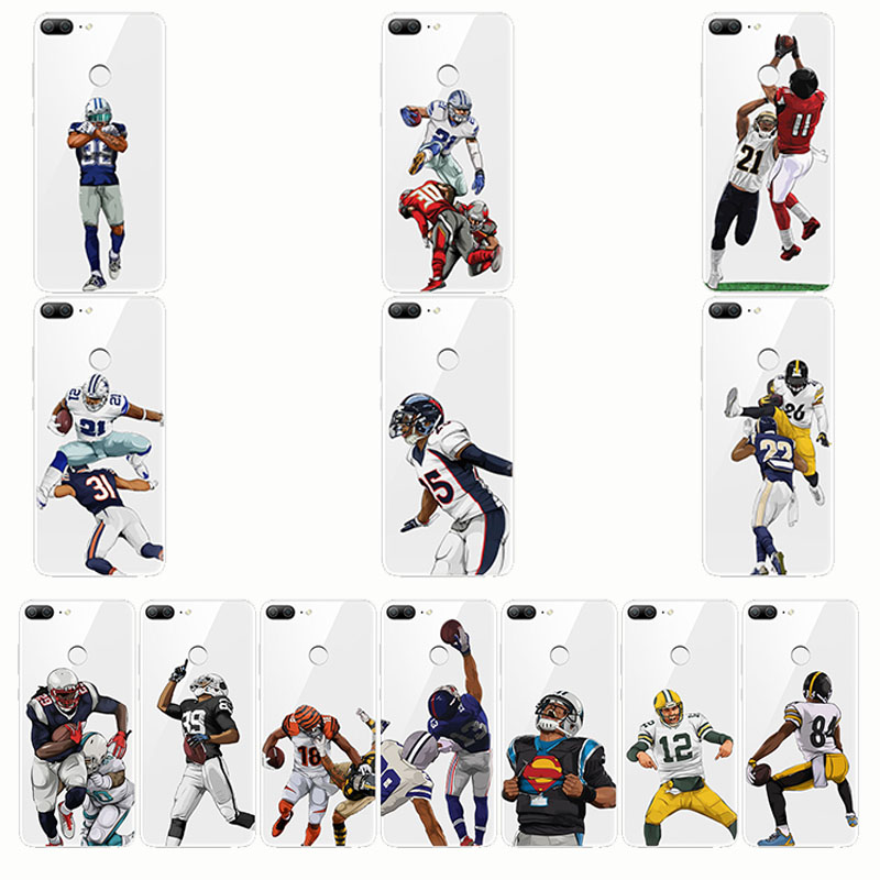 American Football Nfl Rugby Odell Beckham Telefoon Gevallen Transparant Siliconen Soft Capa Cover Voor Honor 10 Lite 9 Lit 8 Lite