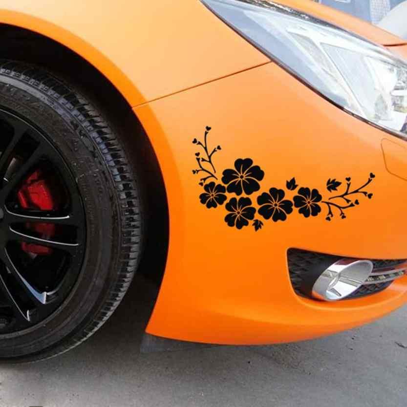 Autocollants Auto pegatinas flores diyveil cuerpo emblema insignia coche estilo 17*30 cm fundas de coche accesorios de personalidad 18Mar 14