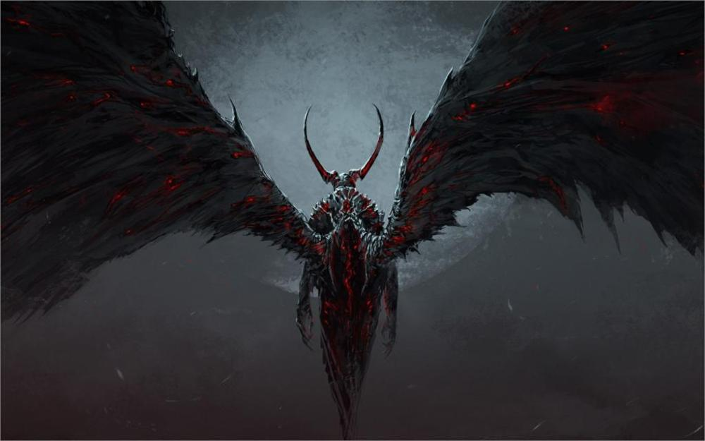 На фото демон