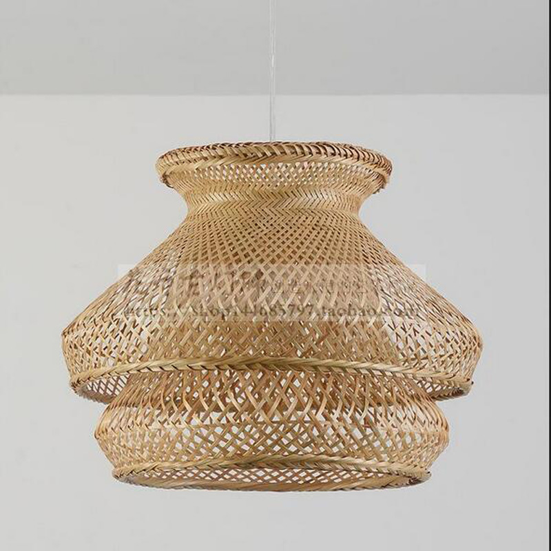 Southeast Asian Pendant Lights Restaurant balcony lamp bamboo lighting lamp simple teahouse room pendant lamps LU726251 southeast asian chinese antique tea bamboo rattan lamp chandelier lamp box farmhouse inn lights ya7265