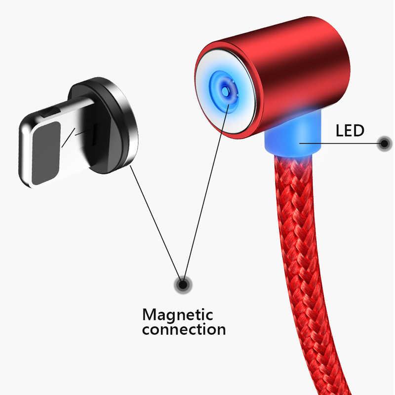 2019 NUOVO 90 Degreemagnetic Cavo Per iphone/Micro USB/Tipo C Spina del Caricatore per xiaomi redmi Per iphone 678x per samsuny s9