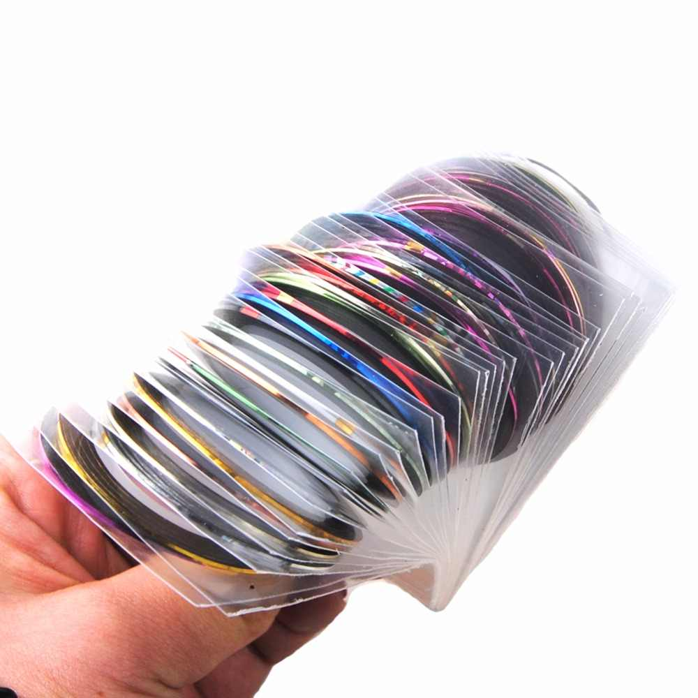 2/3/5 Pcs Campuran Warna Kuku Rolls Striping Tape Line DIY Nail Art Tips Dekorasi Sticker Kuku perawatan Gel Polandia Dekorasi