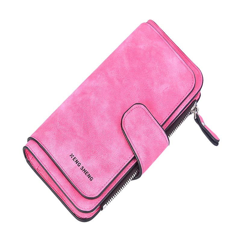 PU Leather Women Wallet Purse Bifold Wallet Female Photo Credit ID Card Holder Long Lady Clutch Wallet Coin Pocket ZipperPurse