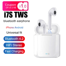 I7s Tws Wireless Bluetooth 5.0 In Ear Earphone Mini Stereo Earbuds Headset With Charging Box Mic For All Smart Phone hot sell i7s tws mini wireless bluetooth earphone stereo earbuds headset bluetooth 4 2 with charging box mic for all smart phone