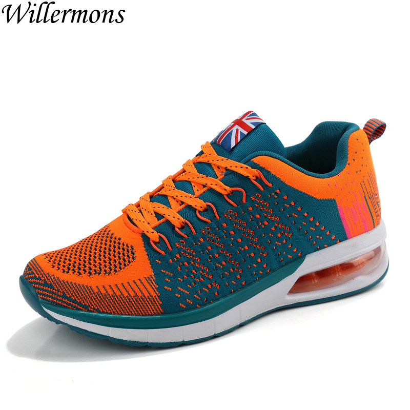 Men's Breathable Knitting Mesh Air Cushion Sports Running Shoes Men Outdoor Jogging Sneakers Shoes Athletics Chaussures Hombre peak sport speed eagle v men basketball shoes cushion 3 revolve tech sneakers breathable damping wear athletic boots eur 40 50