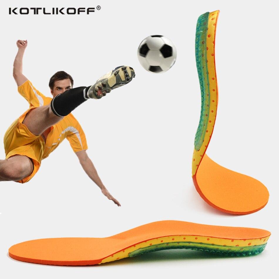 KOTLIKOFF Memory Foam Sport Insoles Sweat Absorption Pads Running Sport Shoe Inserts Breathable Insoles Foot Care Men Women