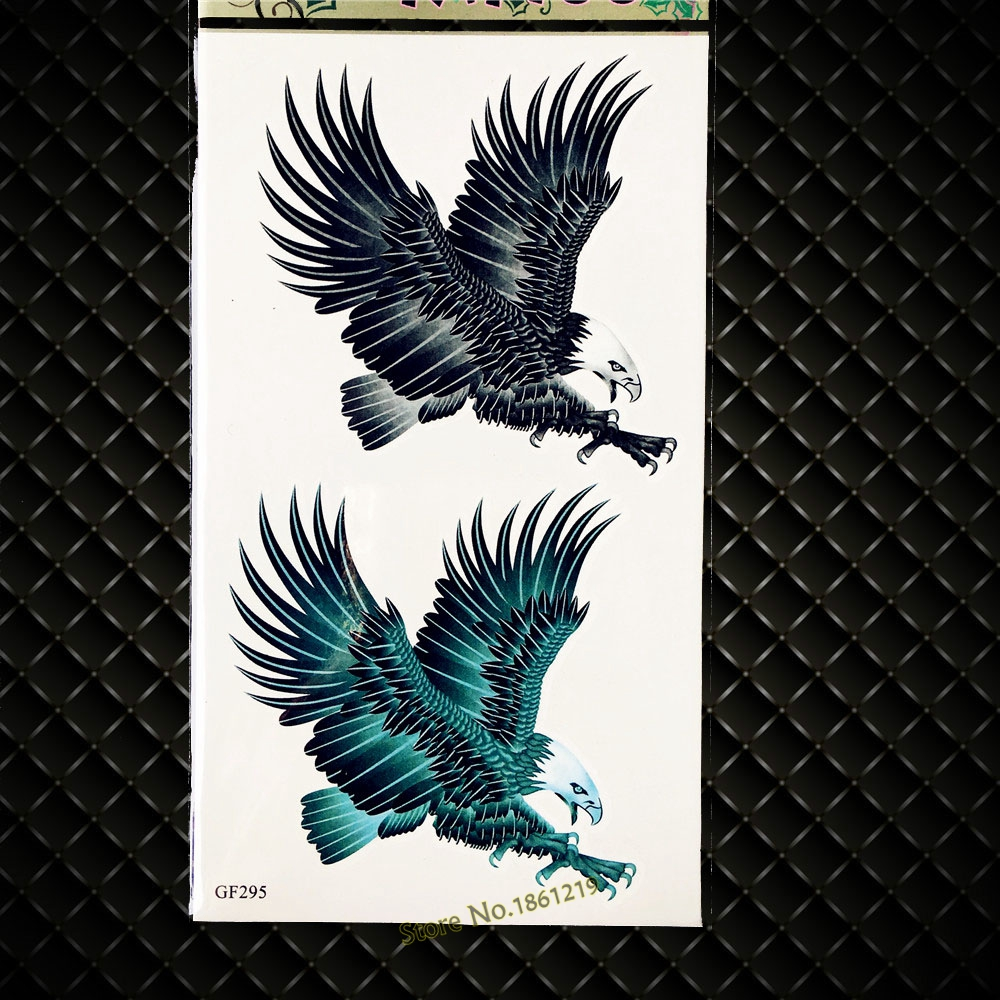 3D DIY Inspired Eagle Temporary Tattoo Stickers Supplies Men Body ARt ARm Tattoos GGF295 Kids Fake Flash Tatoo Hawks For Women