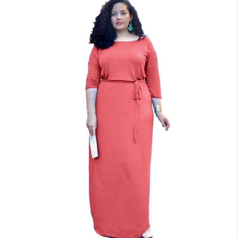 f37b10efc74 Купить Лидер продаж осень 2018 г. женские макси 3 4 рукав платье для жира  пикантные Вечеринка элегантные платья женщин костюмы плюс размеры 2xl 3xl  vestidos ...