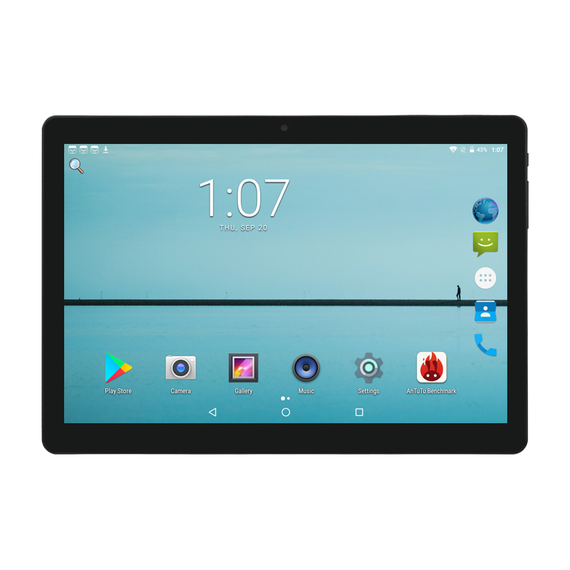 Super Tempered 2.5D Glass 10 inch tablet Android 7.0 Octa Core 4GB RAM 64GB ROM 8 Cores 1280*800 IPS Screen Tablets 10.1 + Gift free shipping android 5 1 8 inch tablet pc octa core 4gb ram 64gb rom 8 cores 1280 800 ips kids gift mid tablets 10 10 1