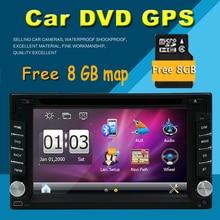 Universa Doble 2 DIN Car radio Reproductor de DVD de Navegación GPS 2DIN Car Stereo Headunit Autoradio Bluetooth en El Tablero de Coches tarjeta de Mapa Gratuito