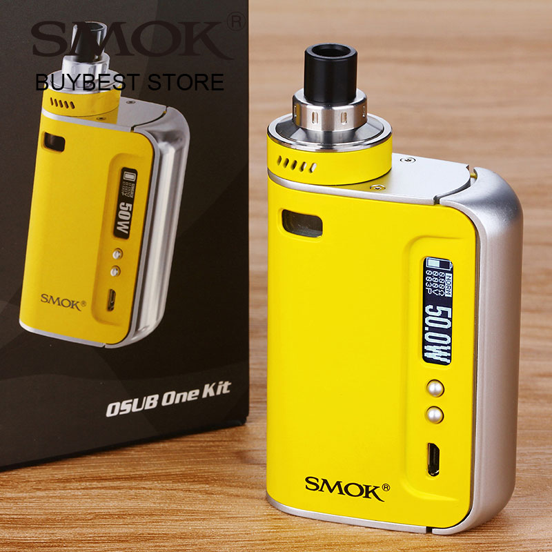 Original SMOK OSUB One TC Starter Kit 50W All-in-one Vape Kit Built-in 2200mAh Battery Box MOD & 2ml Tank Electronic Cigarette