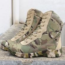 Be A Wolf deportes al aire libre táctico que acampa zapatos botas de los hombres para escalar botas de montaña ligero transpirable senderismo zapatos