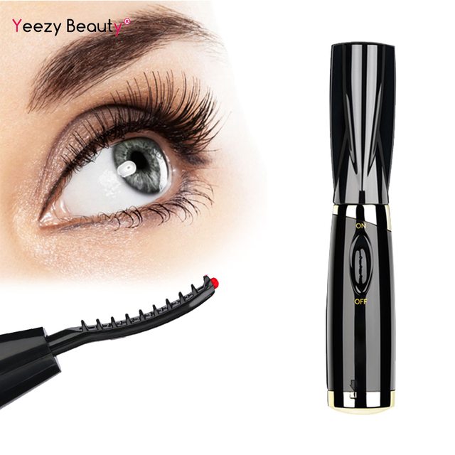 Fashion Mini Electric Heated Eyelash Curler Heated Eye lashes Curler Brush Eye Lashes Styling Curling Iron Makeup Tool for Woman 1