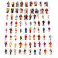100pcs/Lot ABS Plastic Mini HO Scale 1:100 Mixed Painted Model People Figures Train Park Street Passenger Building Layout People