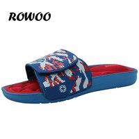 Rowoo 2016 EVA Massage Mùa Hè Dép Nam Giản Dị Trượt Dép Bãi Biển Ngoài Trời Dép Nền Tảng cho Men Size giày 40-45