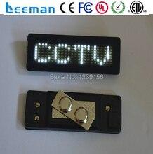 Leeman Мини СВЕТОДИОДНЫЙ бейдж, indoor-реклама небольшой светодиодный экран/маленький светодиодный экран/очень небольшой светодиодный дисплей