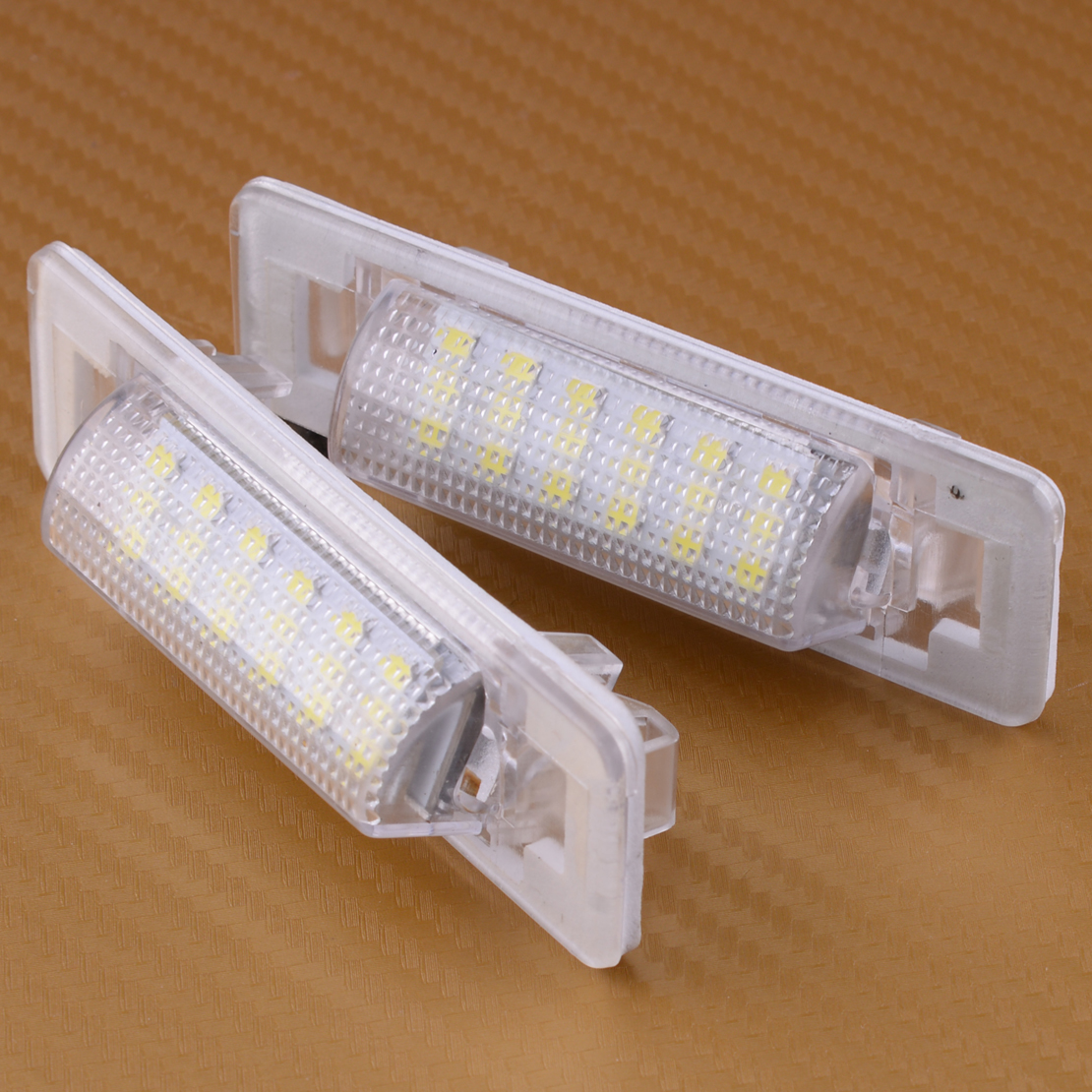 DWCX 2pcs LED Error Free License Number Plate Light Fit for <font><b>Mercedes</b></font> Benz W202 W210 1995 <font><b>1996</b></font> 1997 1998 1999 2000 2001 2002 image