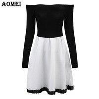 Ladies Cotton Winter Spring Stripe Knee Length Dress Plus Size Women Clothing Femme Robes Tunics 5XL