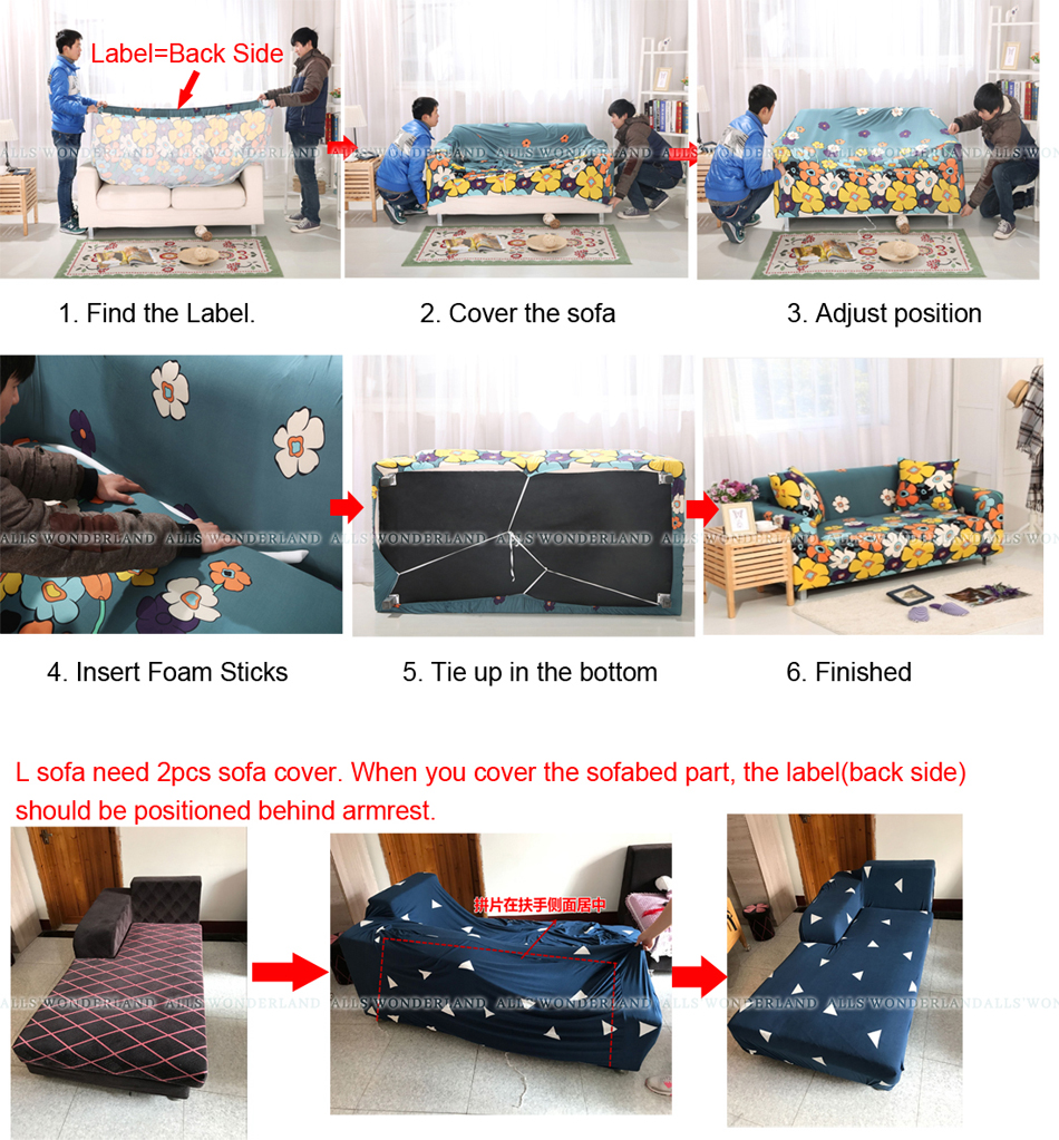 Quality Sofa Covers Us 35 Quality Universal Sofa Covers For Living Room Polyester Elastic Geometric Sofa Cover L Shape Slipcovers All Inclusive Protector In Sofa