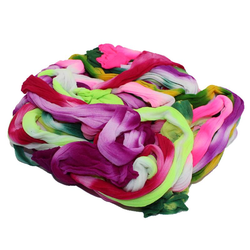 10PCS Multicolor 10 Double Colors Nylon Flower Stocking Making Accessory