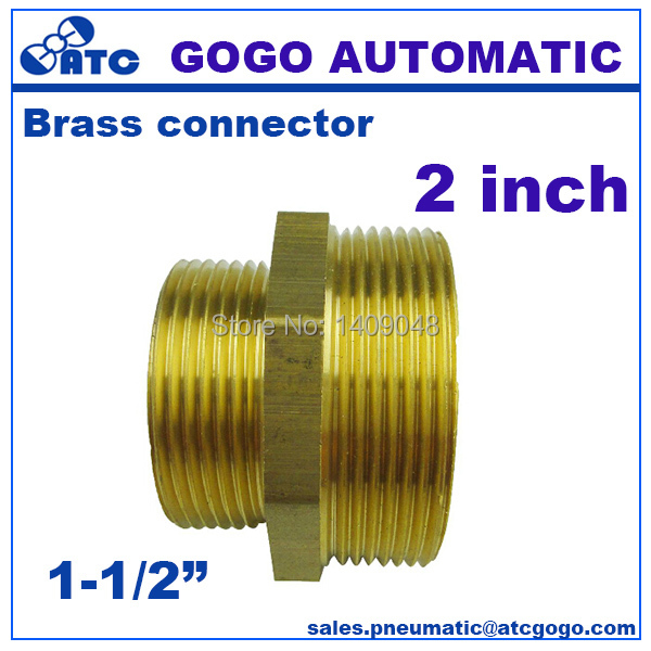 2pcs a lot GOGO DN40 to DN50 Brass hydraulic hose fitting male 1-1/  sc 1 st  AliExpress.com : quick connect hydraulic hose fittings - www.happyfamilyinstitute.com