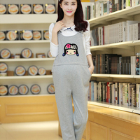 Summer Black Cartoon Pregnant Overalls Maternity Jumpsuits Rompers Pregnancy Women Causal Suspender Bib Pants Plus Size
