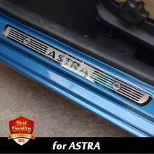 Car Stainless Steel Door Sill Scuff Plate fit for OPEL ASTRA 2010-2017 Vauxhall  ASTRA Dual Tone Door Sills