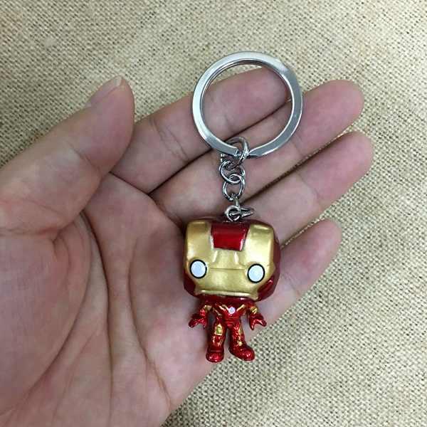 2019 Classic Movie The Avengers Alliance Super Hero Iron Man Keychain Couple Pvc Car Keyring Women Charm Bag Accessories Pendant