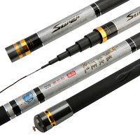 Power Hand Rod Long 8 15m Fishing Pole Super Hard Taiwan Fish Rod Telescopic Fishing Olta De Pesca Ultra Light Carbon Hand Canne