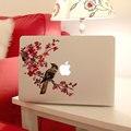 Съемный DIY мода красивая винил картину цветы с совы планшет и ноутбук наклейки для ноутбука, 205*270 мм