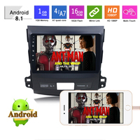 10.1'' Android 8.1 Car No DVD Radio GPS Navigation for Mitsubishi Outlander 2007 2011 HD Touch Screen Car Multimedia Player