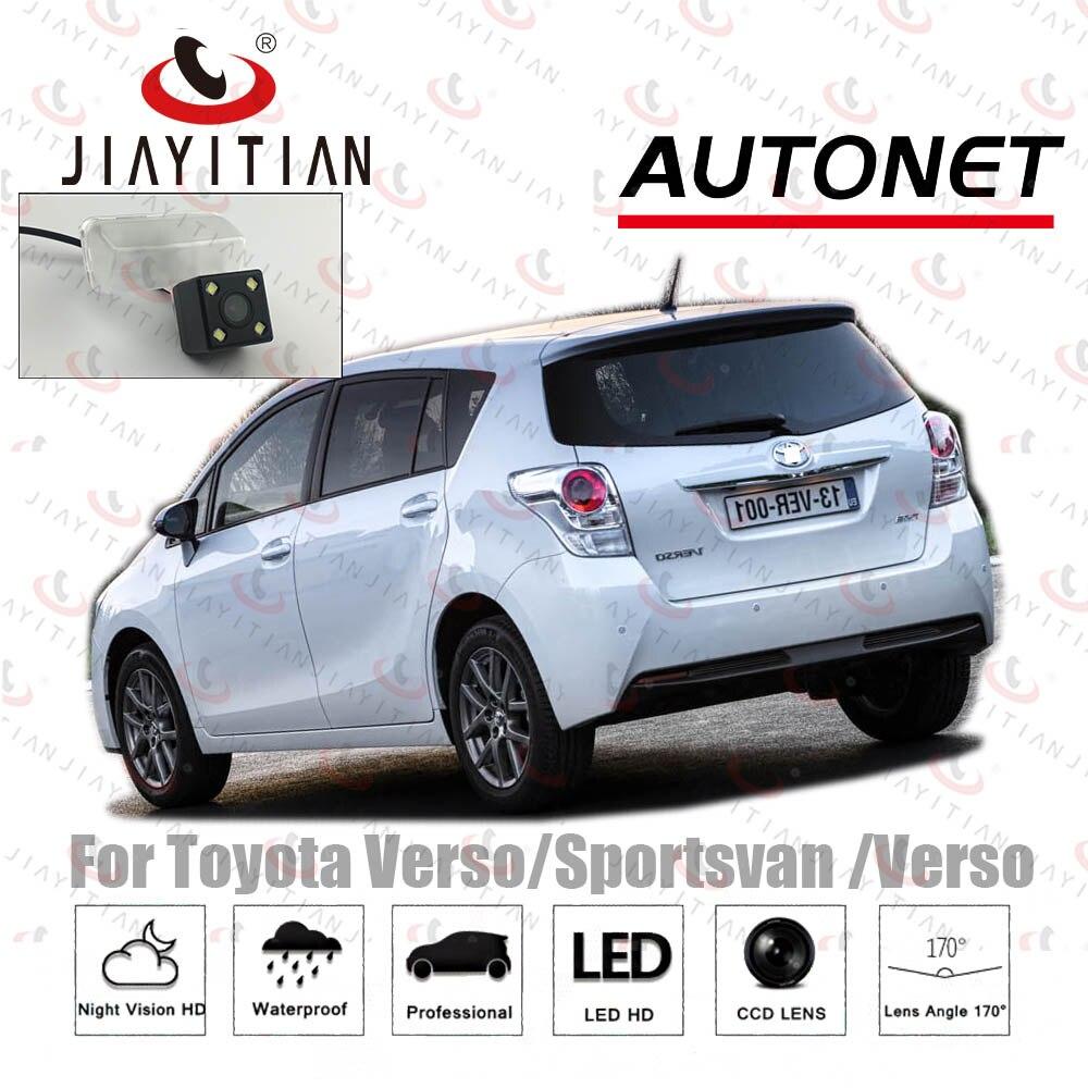 JIAYITIAN Rear View Camera For Toyota Verso/Sportsvan/Verso EZ/2009~2018 HD CCD Night Vision Reverse Camera License Plate Camera