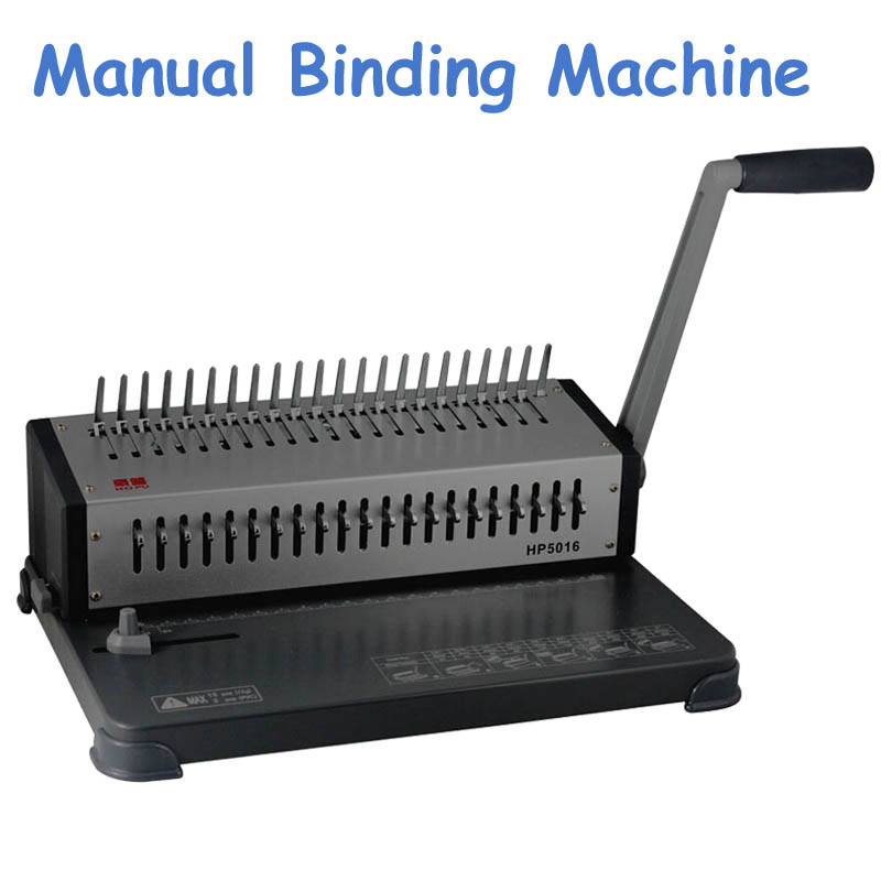 Comb Wire Binding Machine Manual Book Binders HP5016 quying laptop lcd screen for sony sve151g17m 15 6 inch 1366x768 40pin