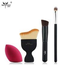 New Design Foundation Brush Kit 4 pcs Makeup Brushes Cosmetic Cream Powder Blush Makeup Brush Set