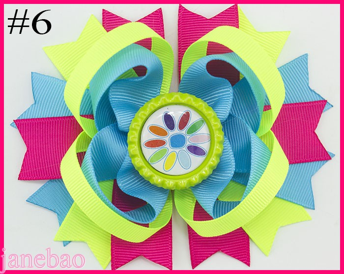 Free shipping 120pcs Girl Scout hair bow Girl Scout hair accessories cookies hair bow brownies daisys