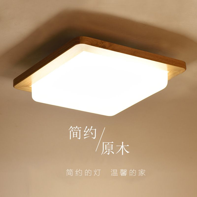 Ceiling Lights Japanese Style Delicate Crafts Wooden Frame Tatami Led Ceiling Lights Luminarias Para Sala Ceiling Lamp