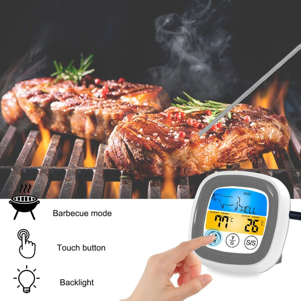 Digital Wireless Food Thermometer with Preset Temperature and Touch Screen Suitable for Perfect Cooking of Chicken Turkey and Fish 10