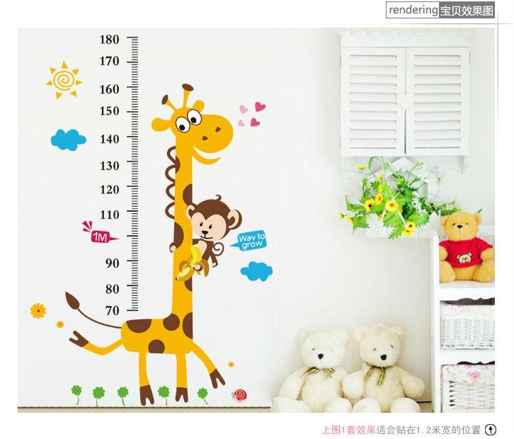 Children GROWTH Height CHART DECALS Giraffe Monkey Wall Stickers Kids Teens Bedroom  Playroom Dorm Decor Nursery ... Part 93