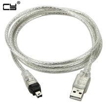 Usb macho para firewire ieee 1394 4 pinos macho ilink adaptador cabo firewire 1394 cabo para sony DCR-TRV75E dv câmera cabo 120cm 4ft