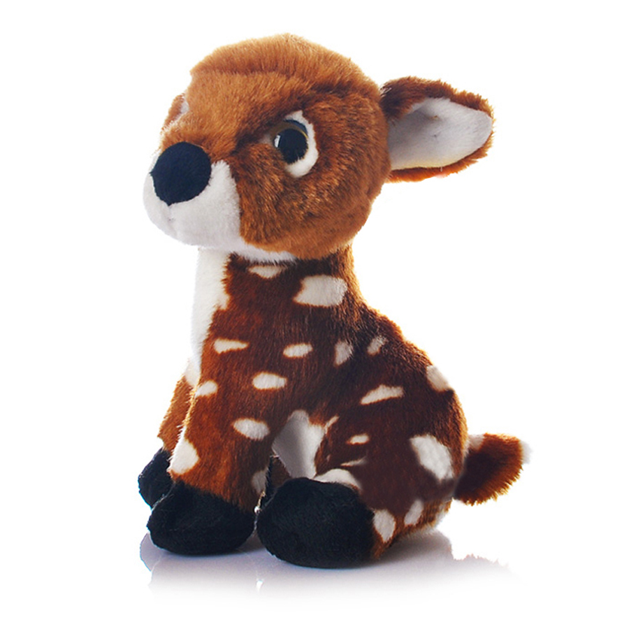Simulation Animal Doll Big Eyes Plush Toy Deers Stuffed Animals Knuffel Birthday Gift Pluche Mini Dieren Toys For Girls 50G0452 stuffed animal 115 cm plush simulation lying tiger toy doll great gift w114