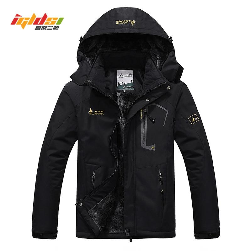 Winter Jacket Coats Men Casual Thick Velvet Warm Coat Thermal Windproof Windbreaker Hood Military Jackets Men Outwear Down Parka