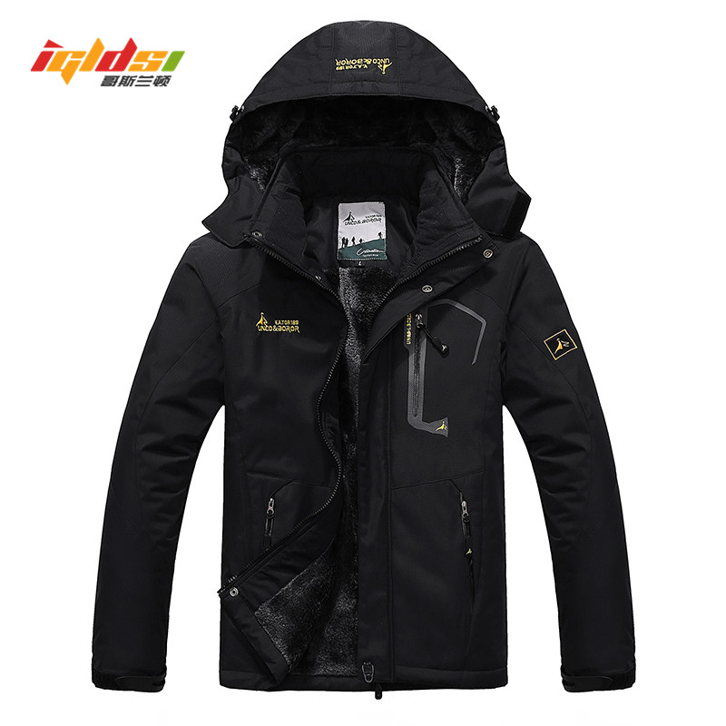 Winter Jacket Coats Men Casual Thick Velvet Warm Coat Thermal Windproof Windbreaker Hood Military Jackets Men Outwear Down   Parka