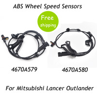 New 2pcs Rear Right Left ABS Wheel Speed Sensors For Mitsubishi Lancer Outlander 4670A579 4670A580