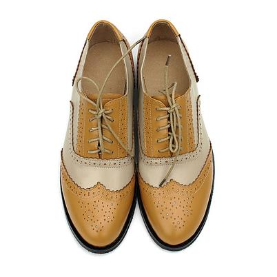 British Style Vintage Oxfords Shoes Women Low Heel Fashion
