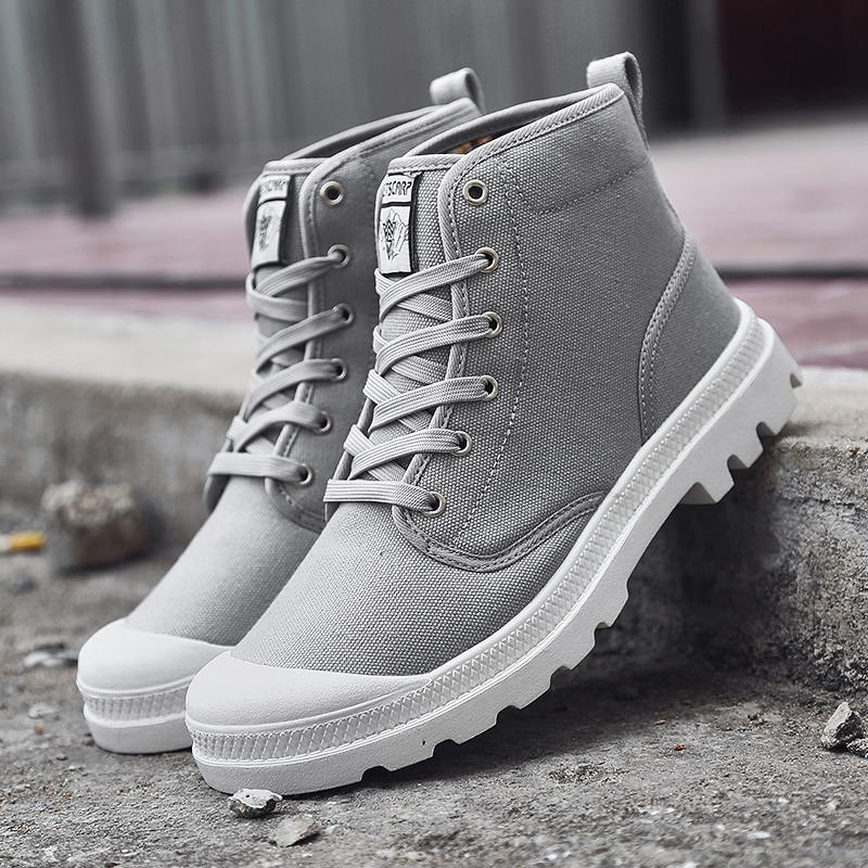 Unisex High Side Autumn Sneaker Canvas Casual Boots Lace up 12 Colors Size 36 47 Brand