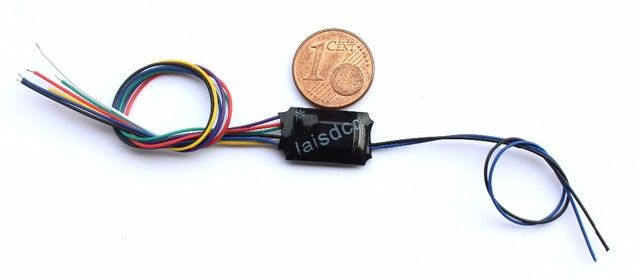 Function Only Decoder with 4 Functions & Stay alive wires/LaisDcc brand