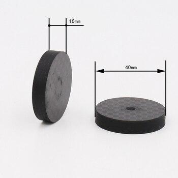 4 шт. 40x10 мм черный углеродный волоконный динамик изоляционный шип базовый Коврик для обуви ноги Hifi