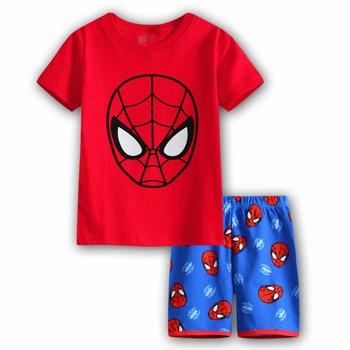 774f4929d 2019 niños conjuntos de ropa para niños trajes de verano Conjunto niño  Spiderman Batman Conjunto de pijamas de Vetement Enfant Ensemble Garcon  nuevo