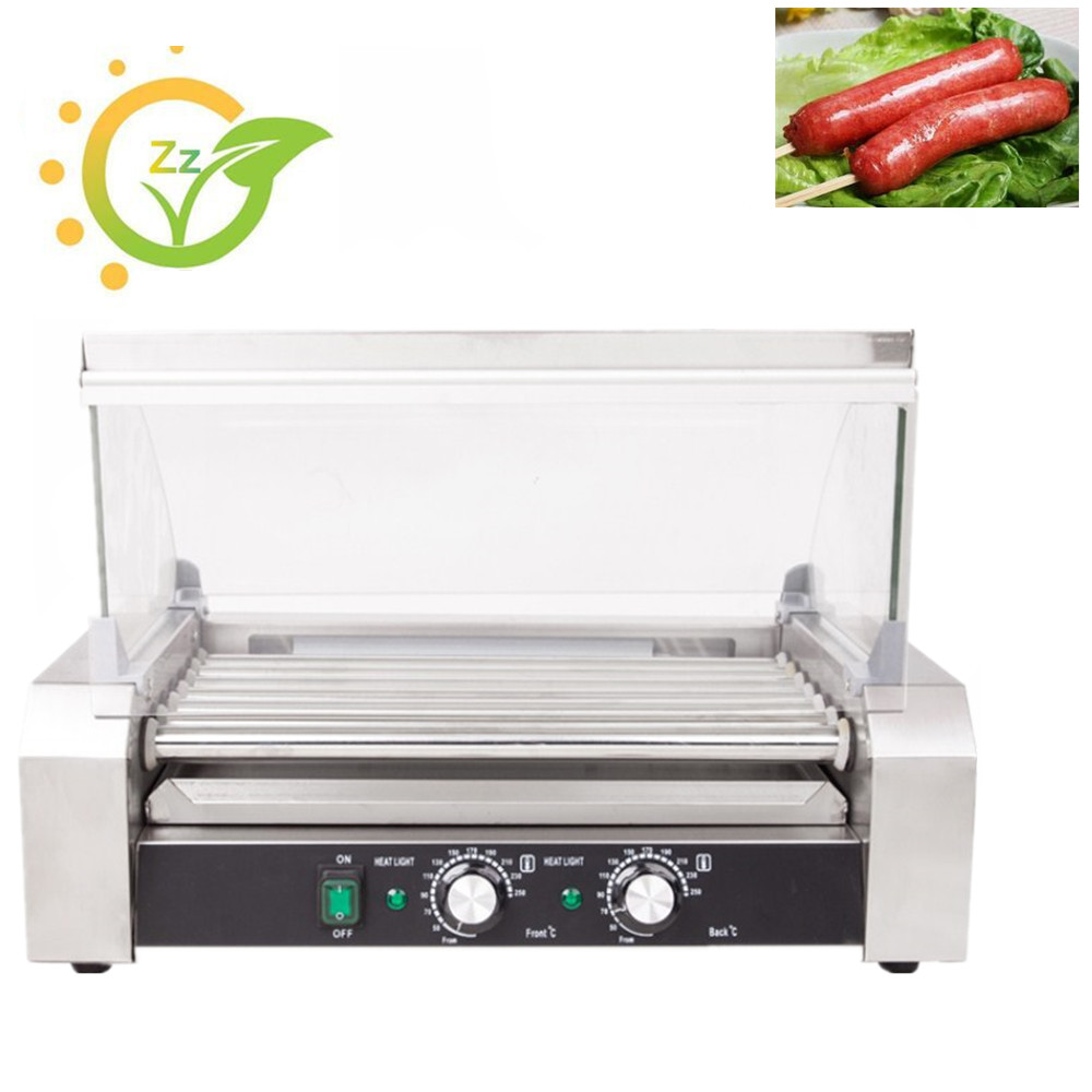 Mini Home Use Hot Dog Grill Machine Roast Sausage Grill Maker Stainless Steel Hotdog Maker Cooker Equipment hot dog grill machine roast sausage grill maker stainless steel hotdog maker cooker with 5 rollers