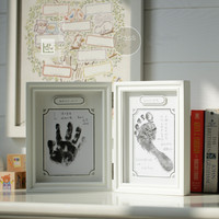 Baby Growth Commemorative Gift Photo Frame Hand And Foot Print